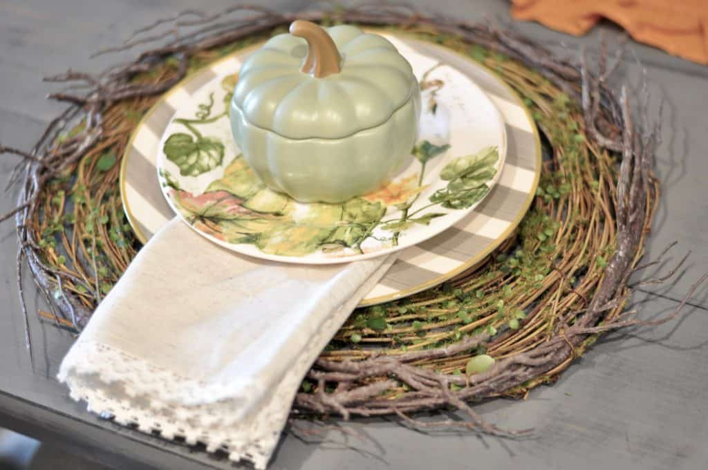 perfect fall place setting from Pier One and World Market
