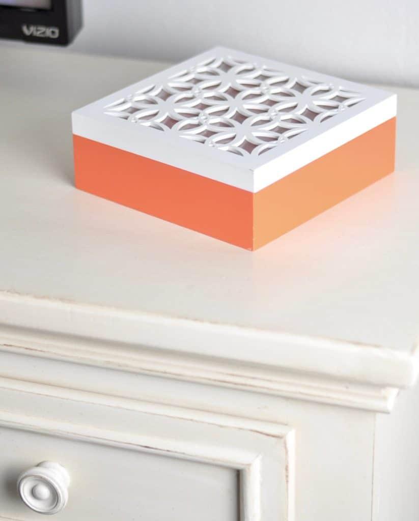 orange box bedroom