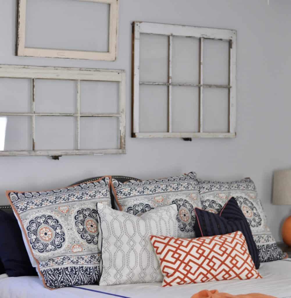 Bedroom with Vintage Windows