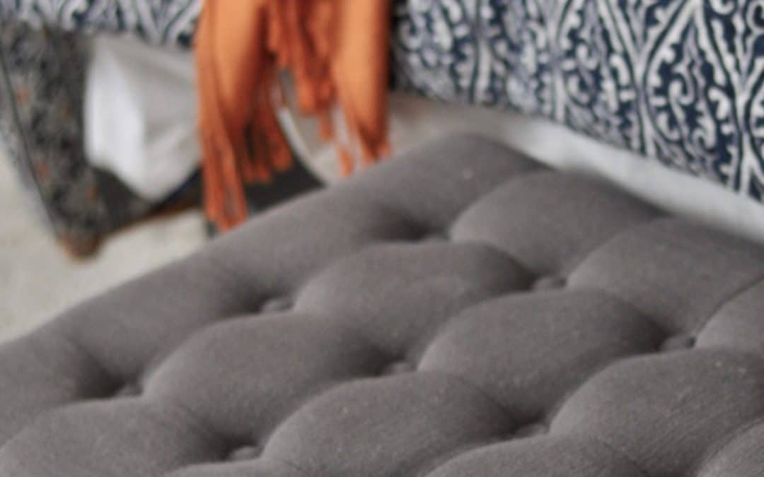 bedroom storage ottoman gray