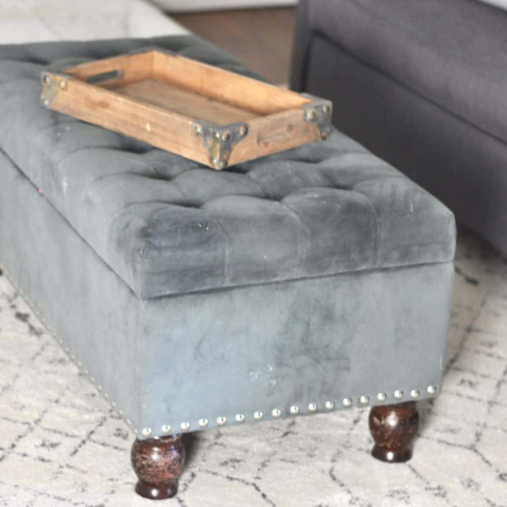 coffee table and storage ottoman