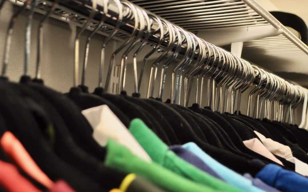Black Hangers, ROYGBIV clothes in closet