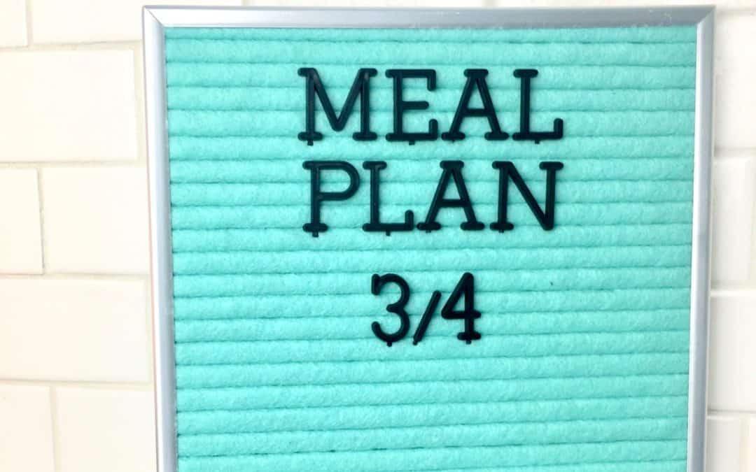 Meal Plan Weekly weeks 3 and 4