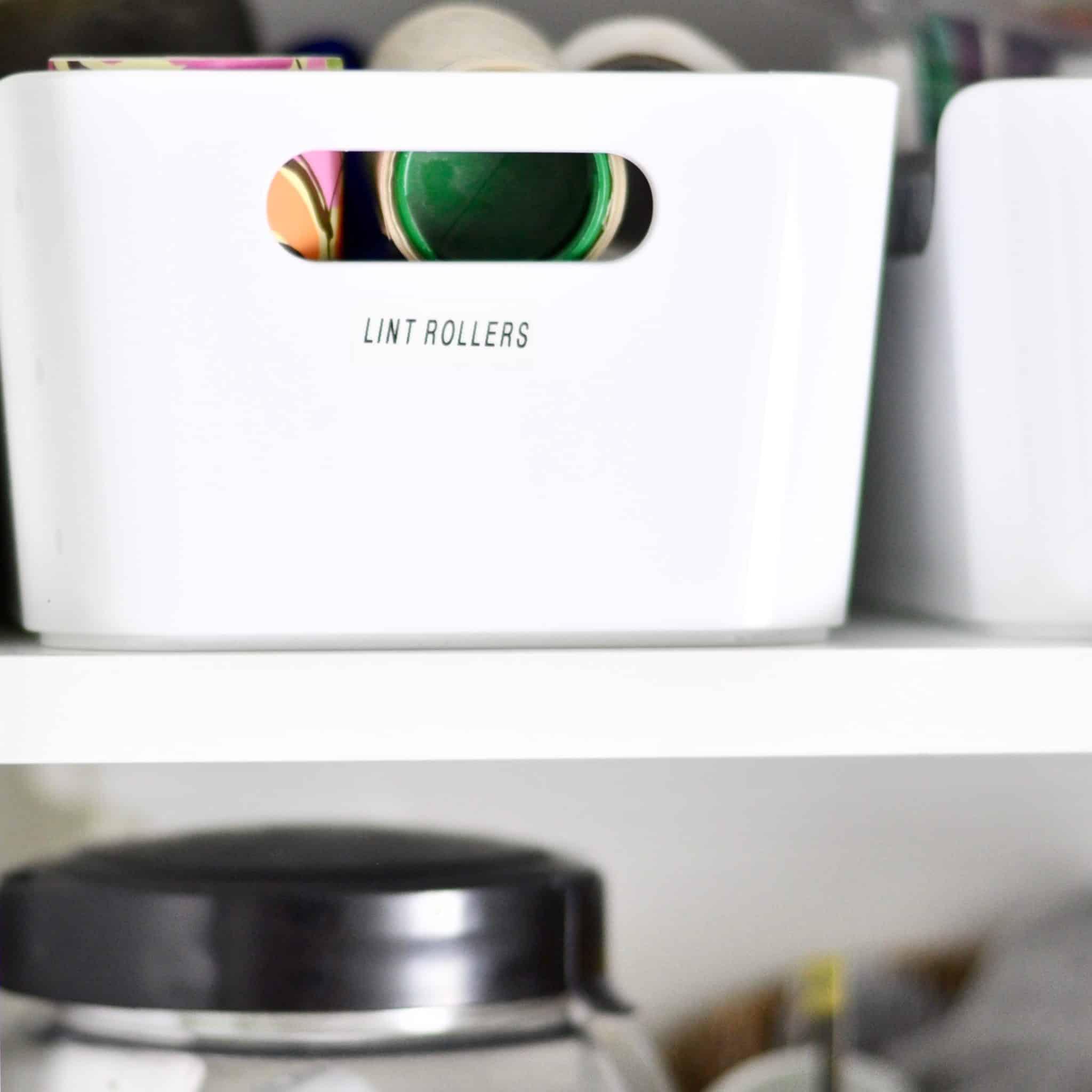 Organized Laundry Room Plastic Ikea Bin