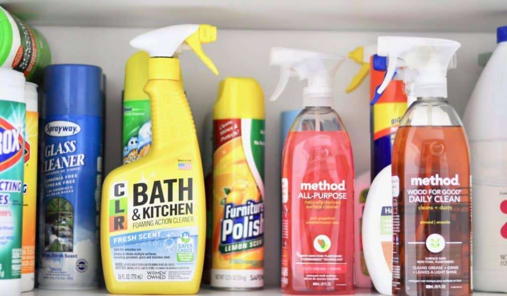 organized laundry room cleaning products form Intentional Edit - Method target