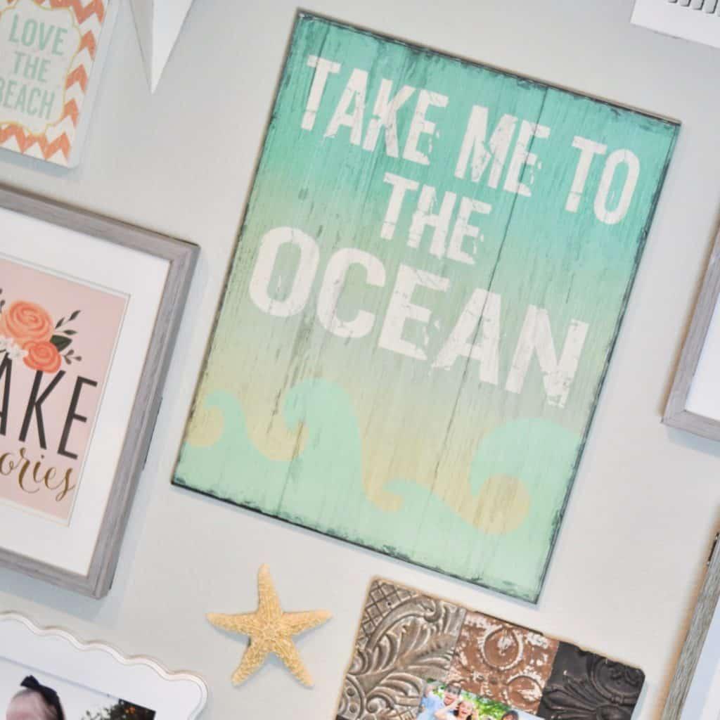 Take Me to the Ocean print