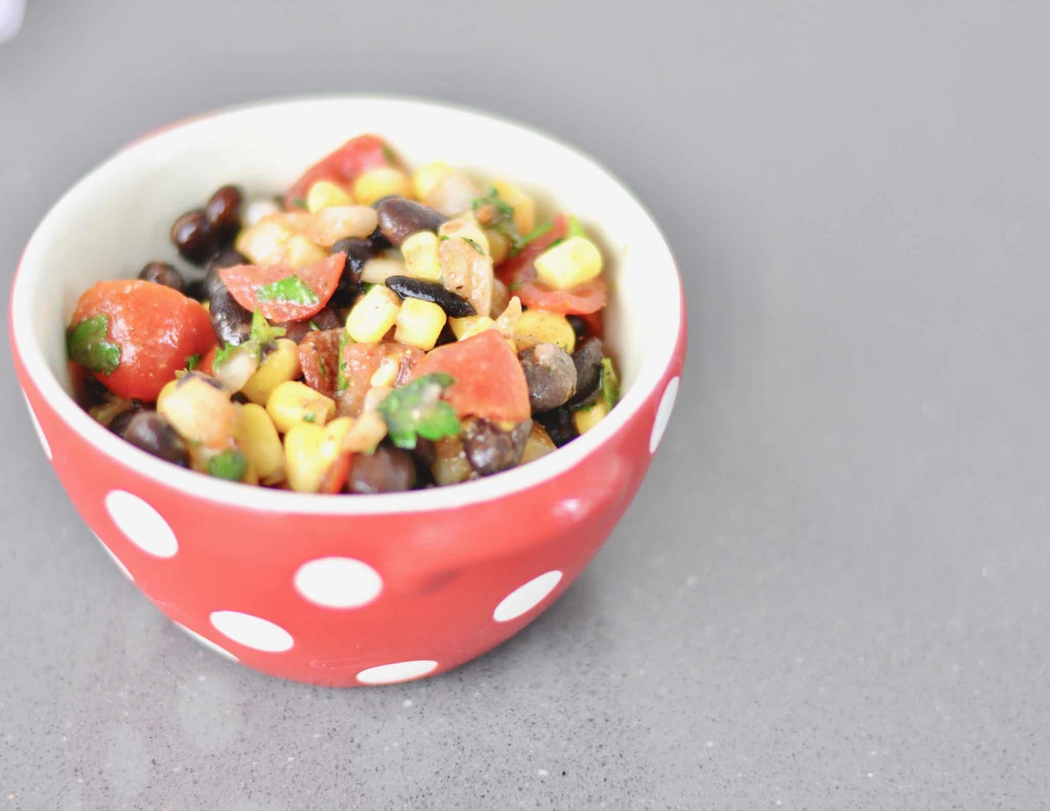 easy corn and black bean salad dinner side full of flavor recipe meal