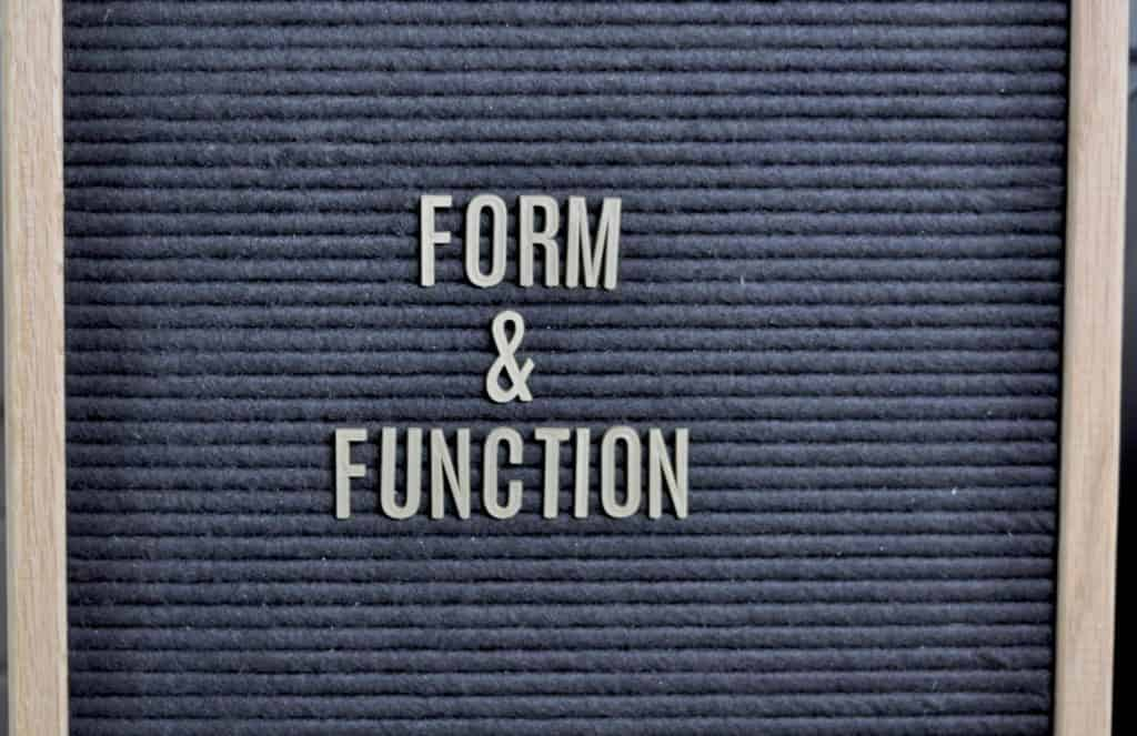 form and function memo board