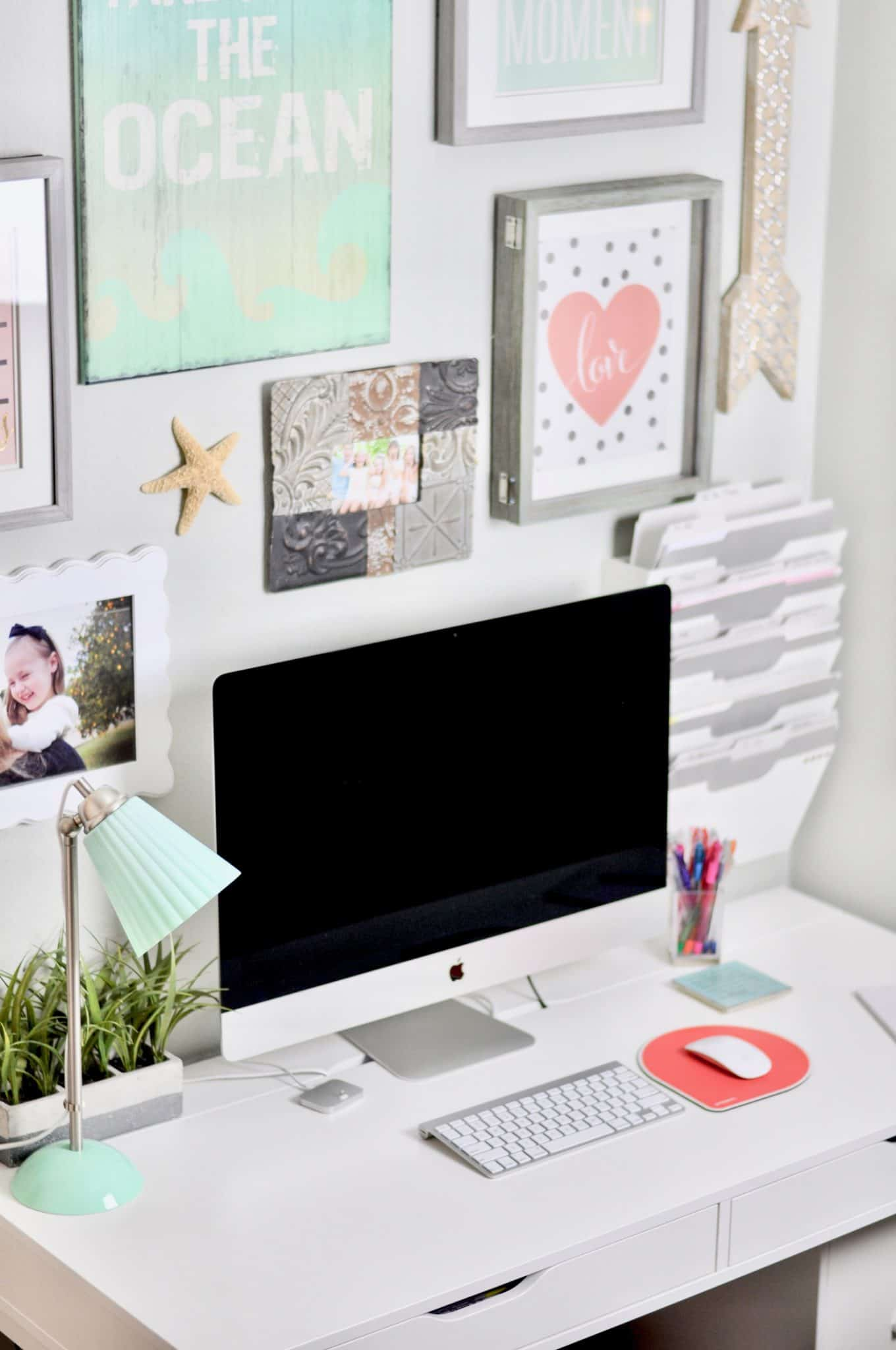 Organized Home Office - Declutter Your Office Today! - Intentional Edit