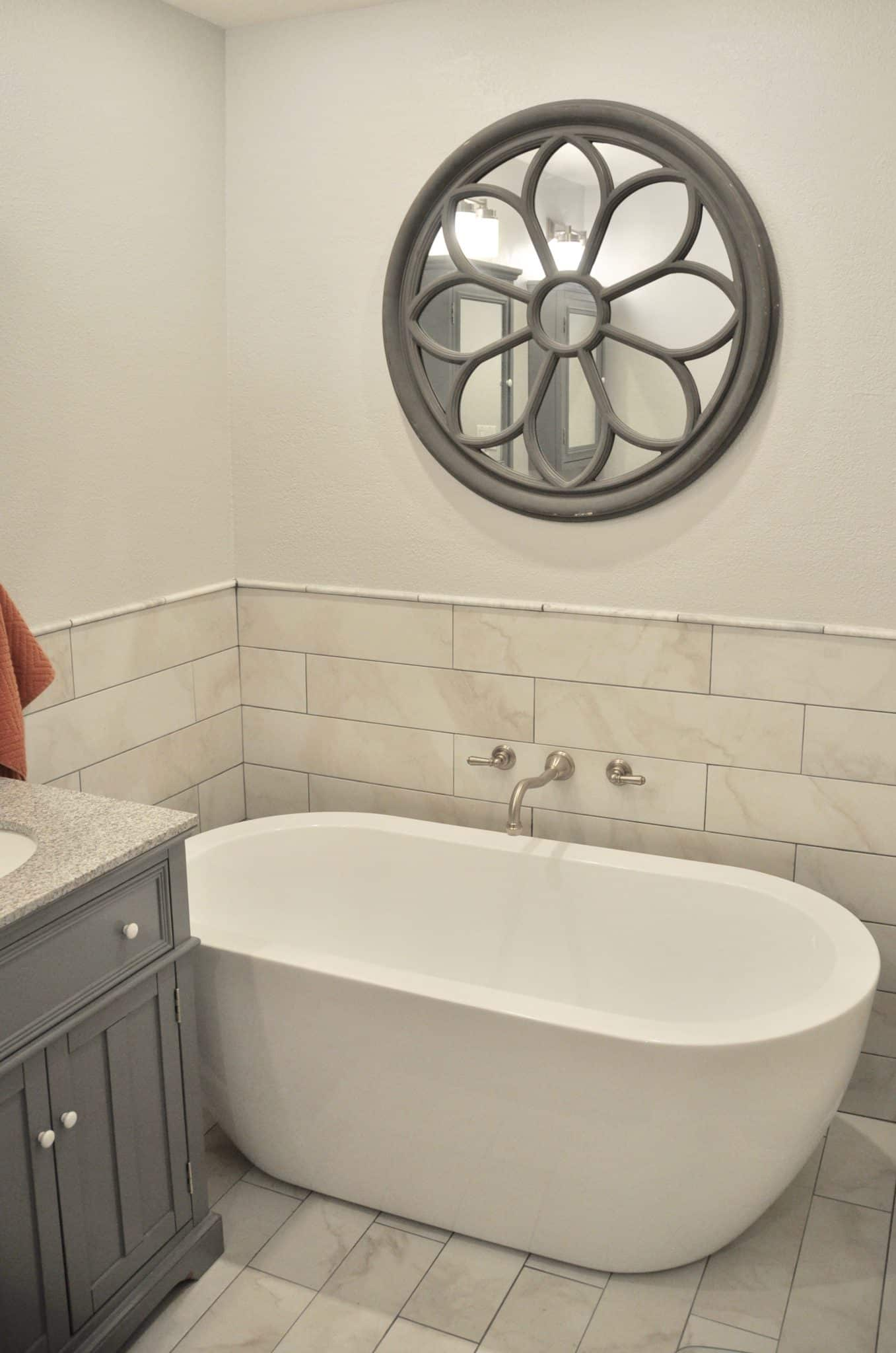 master bathroom remodel with soaking tub