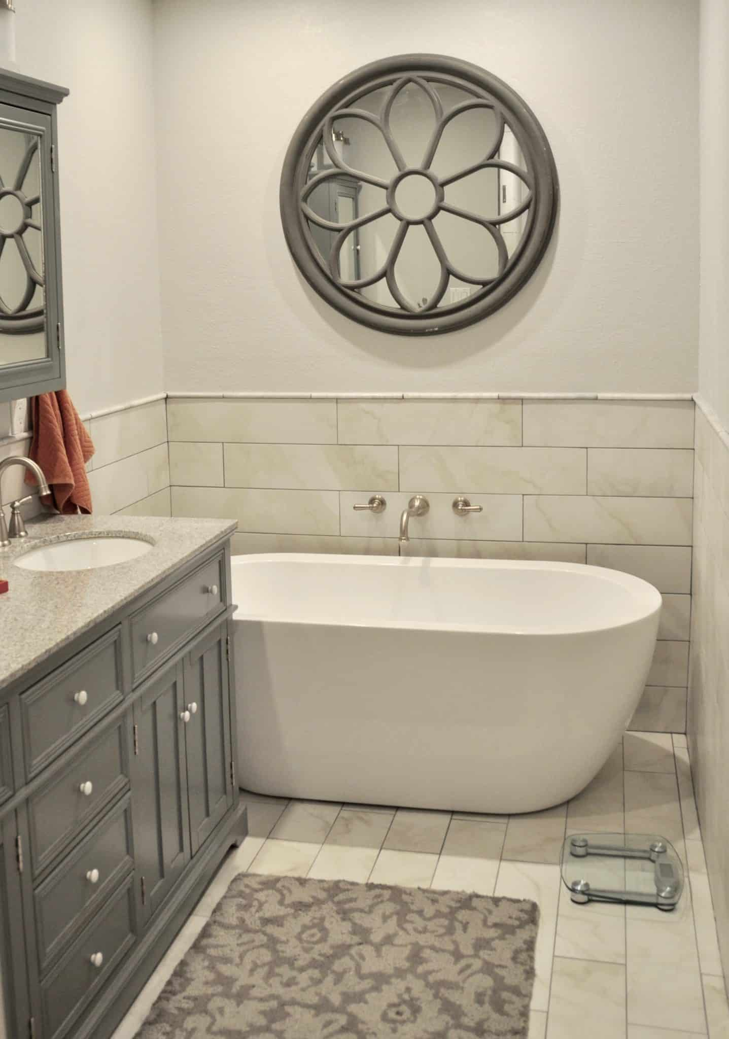 vanity and soaking tub bathroom remodel from Intentional Edit