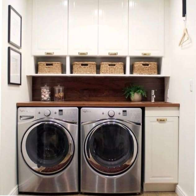 beautiful laundry room organized