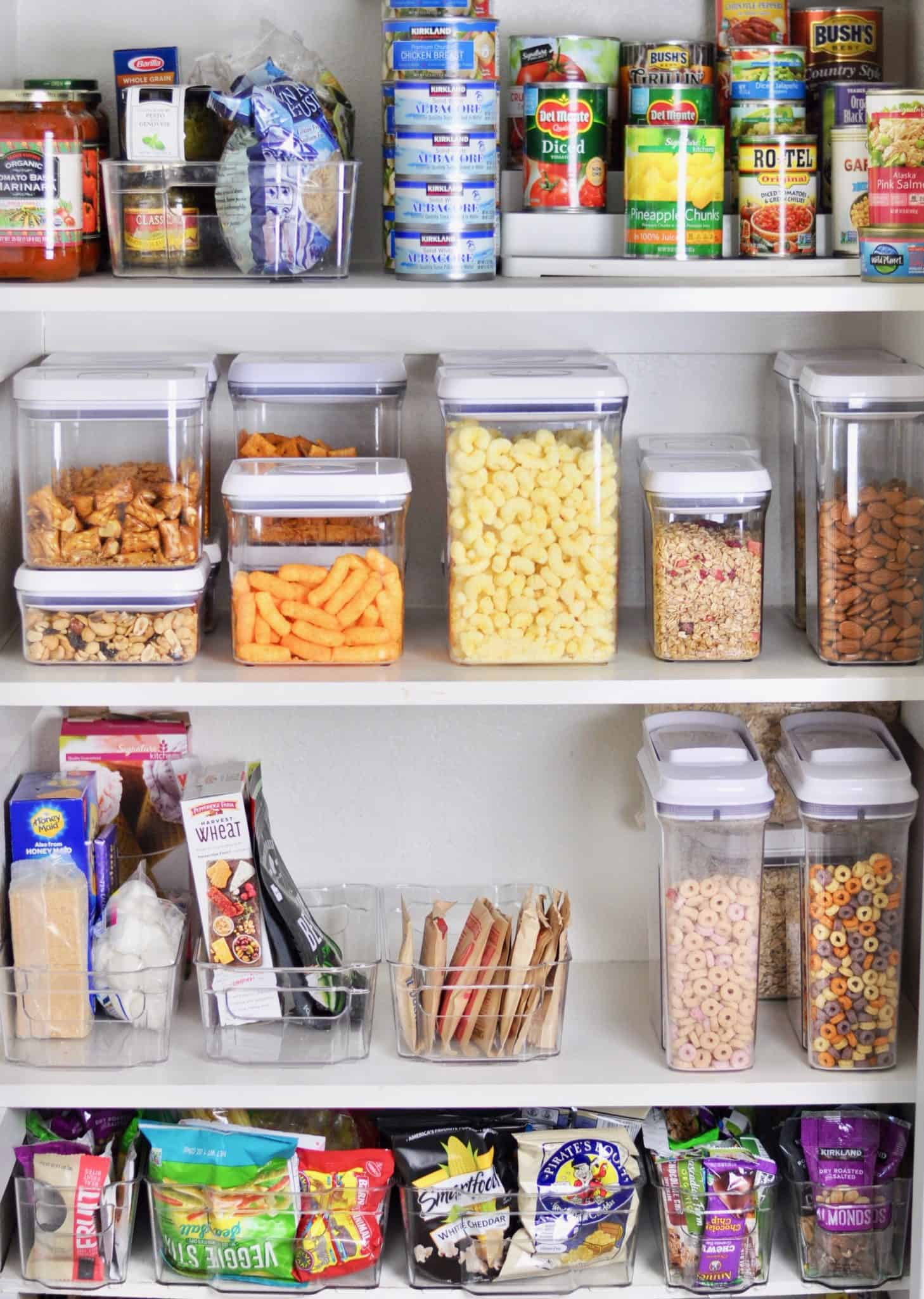 small pantry organized kitchen clutter free food storage