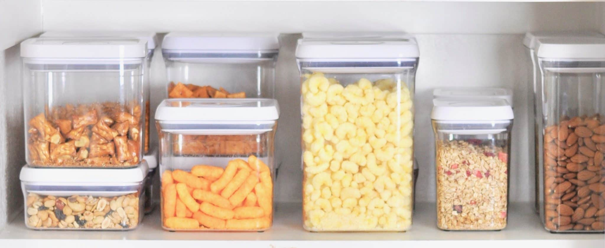 OXO containers pantry organized