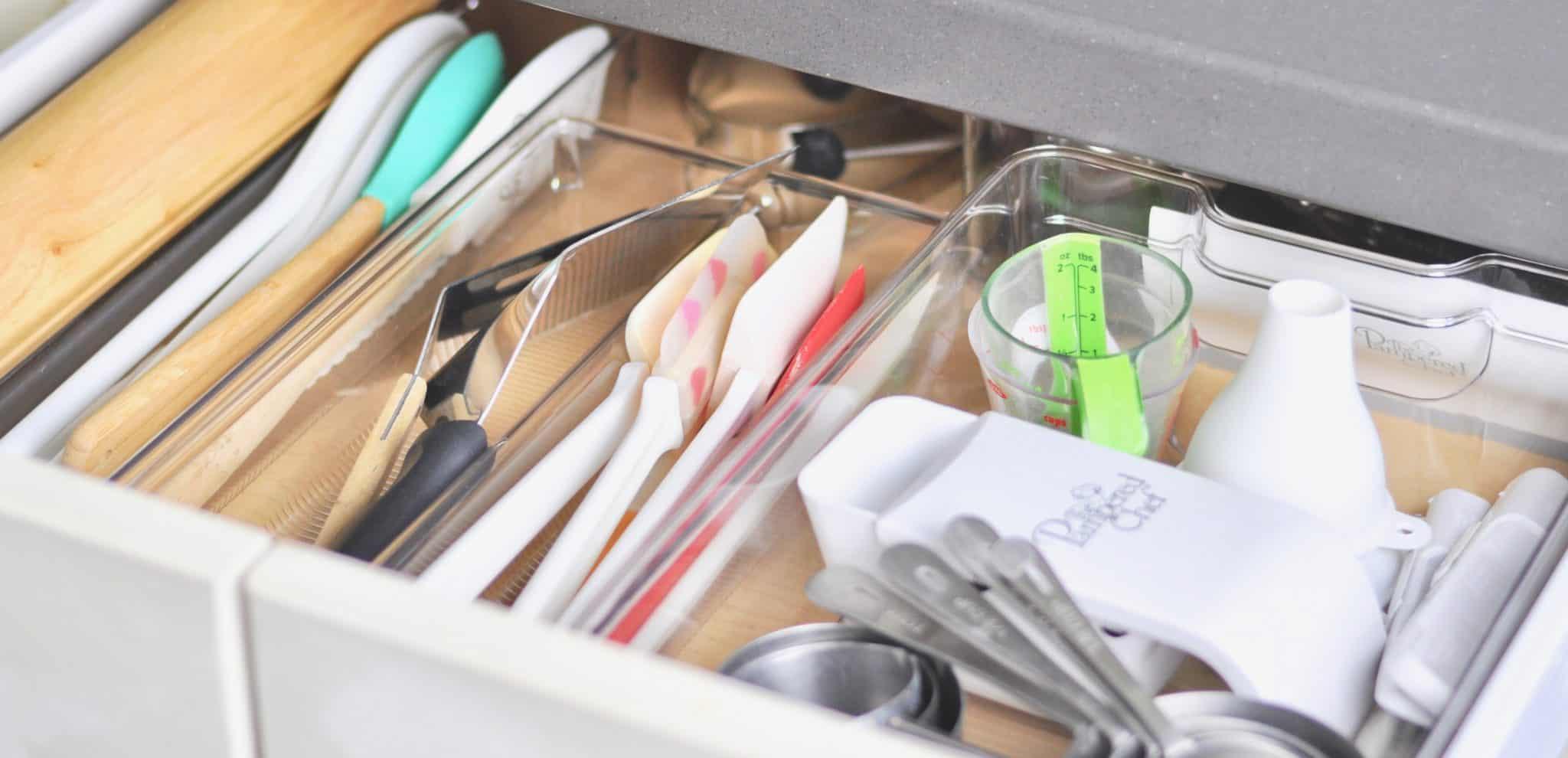 Baking Supplies Organized Kitchen Drawer