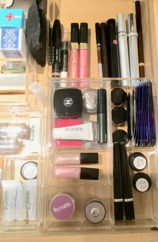 makeup organized cosmetics acrylic drawer dividers large