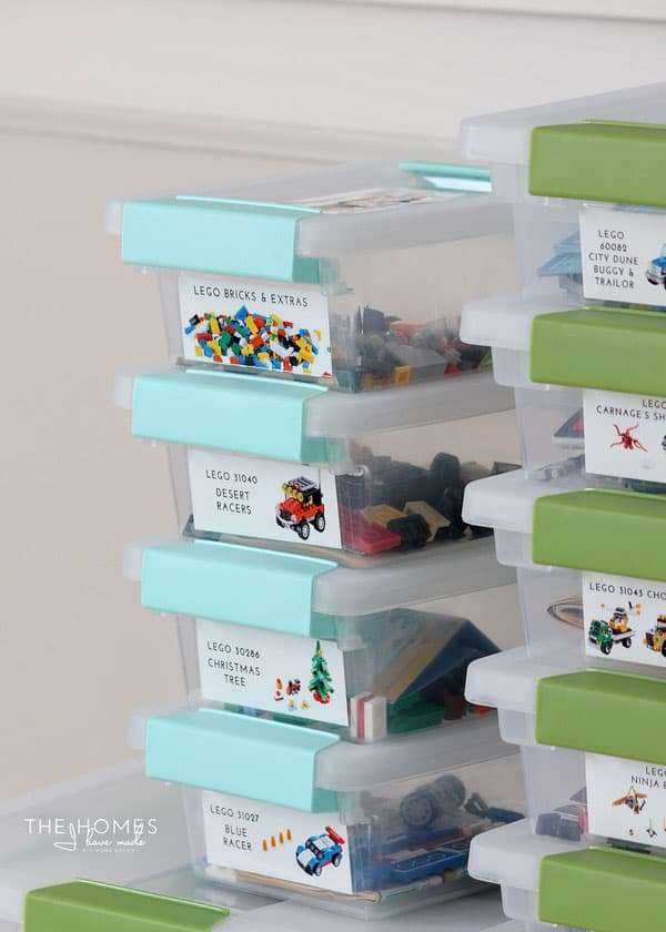 Lego Organization with labels