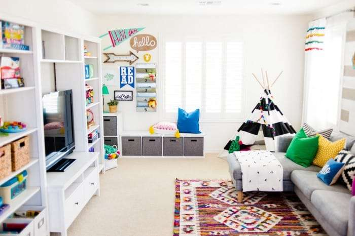 perfect playroom organized and clean