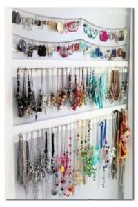jewelry organized by color