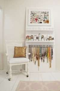 organized jewelry wall