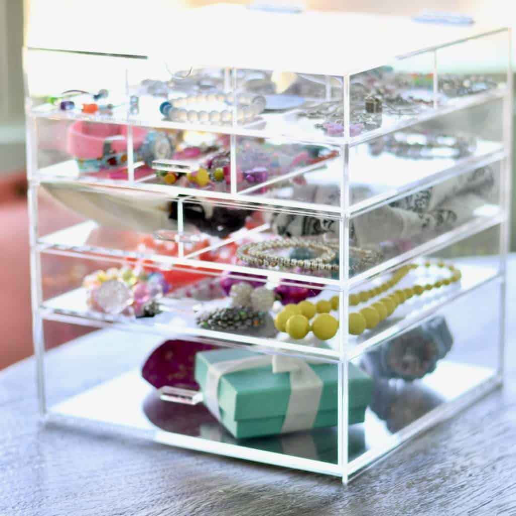 acrylic jewelry box drawer organizer