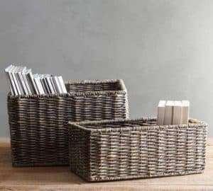 baskets for closet storage and organization