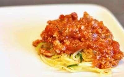 Zucchini Noodles with Turkey Marinara