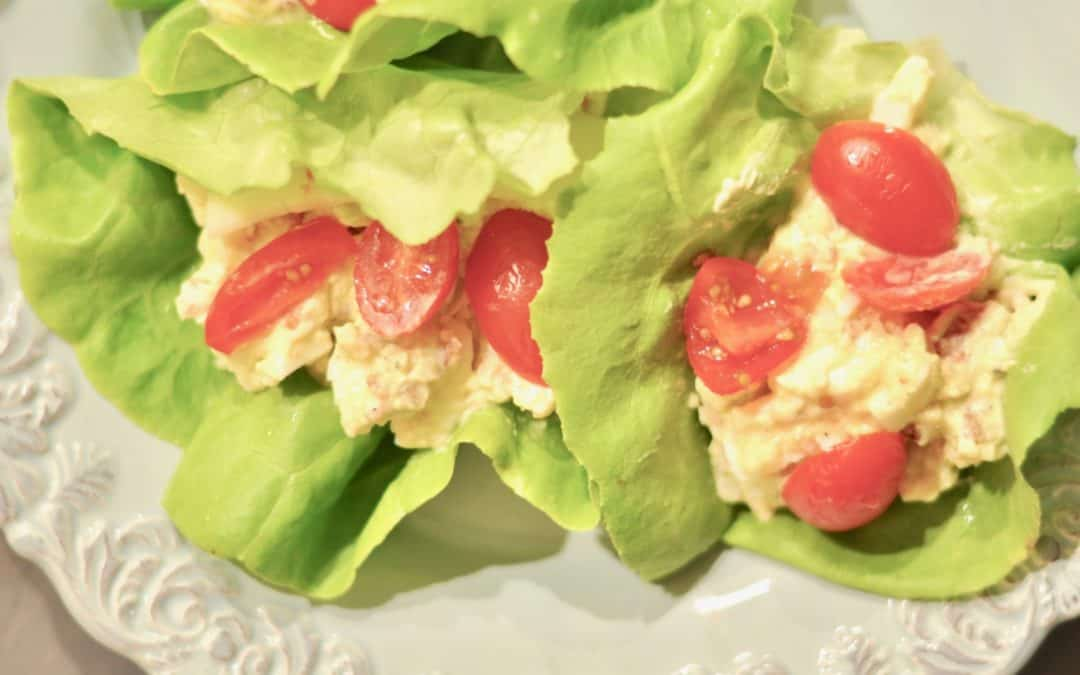 Avocado Egg Salad Lettuce Wraps