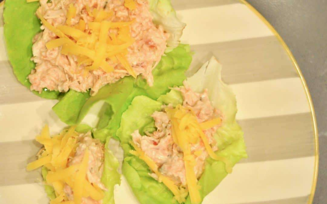 Cream Cheese Chicken Lettuce Wraps