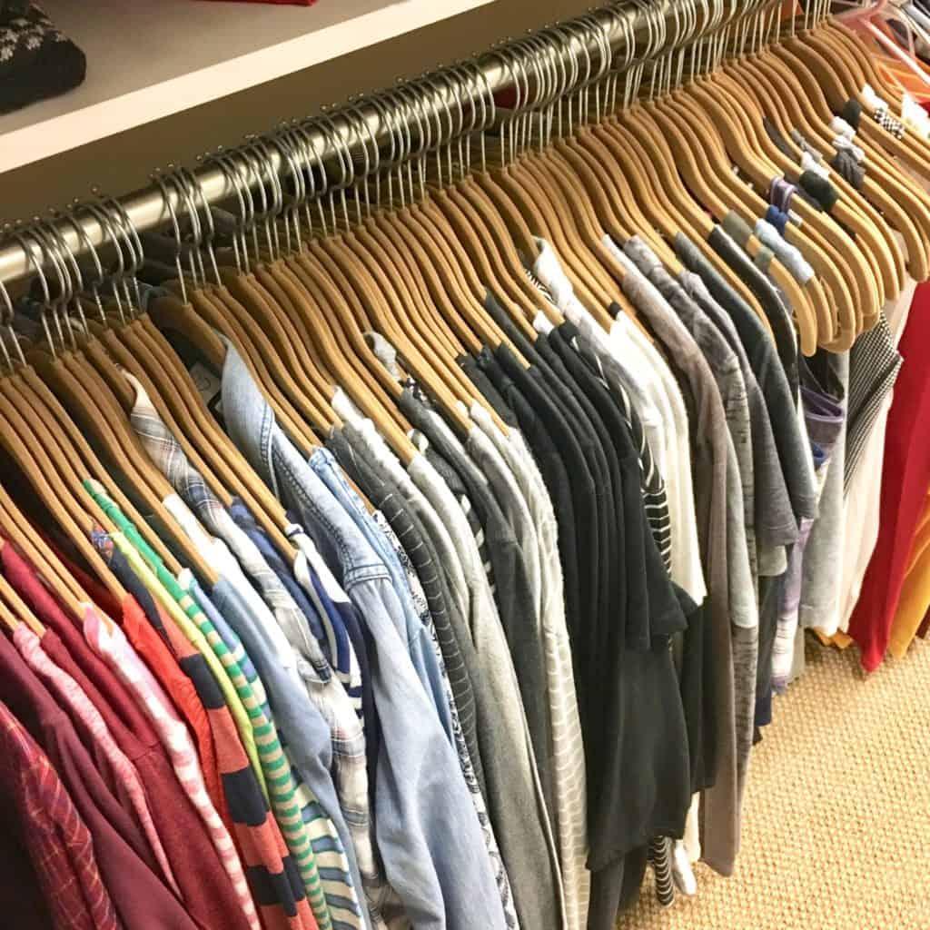 velvet hangers rainbow clothes