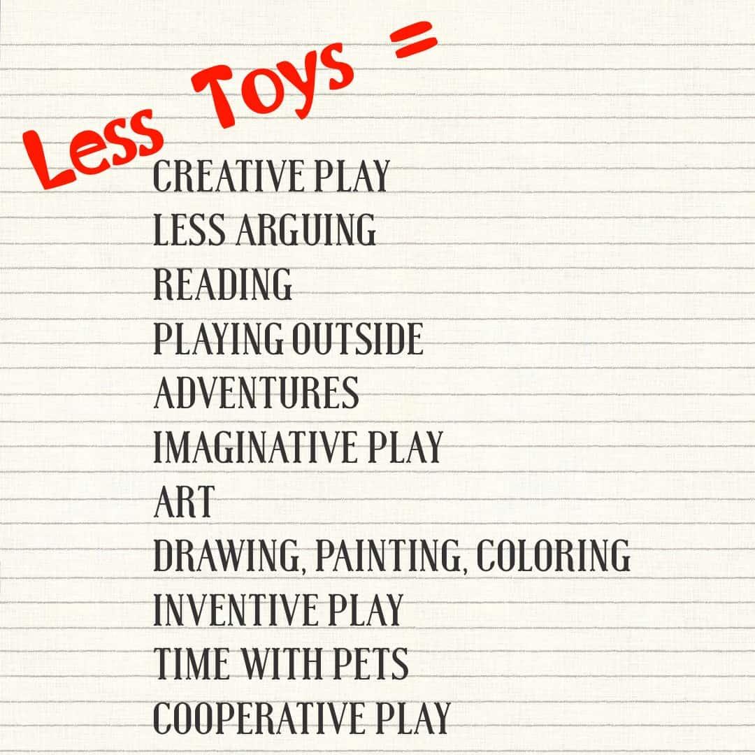 Less toys, toy purge, minimalism