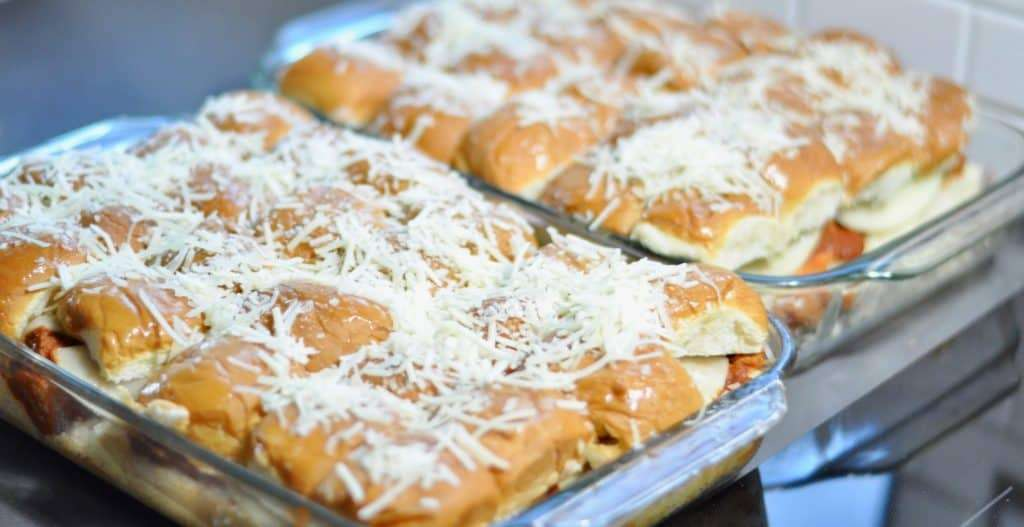Italian Meatball Sliders, party food