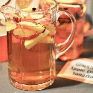 Apple cider sangria - fall party drink