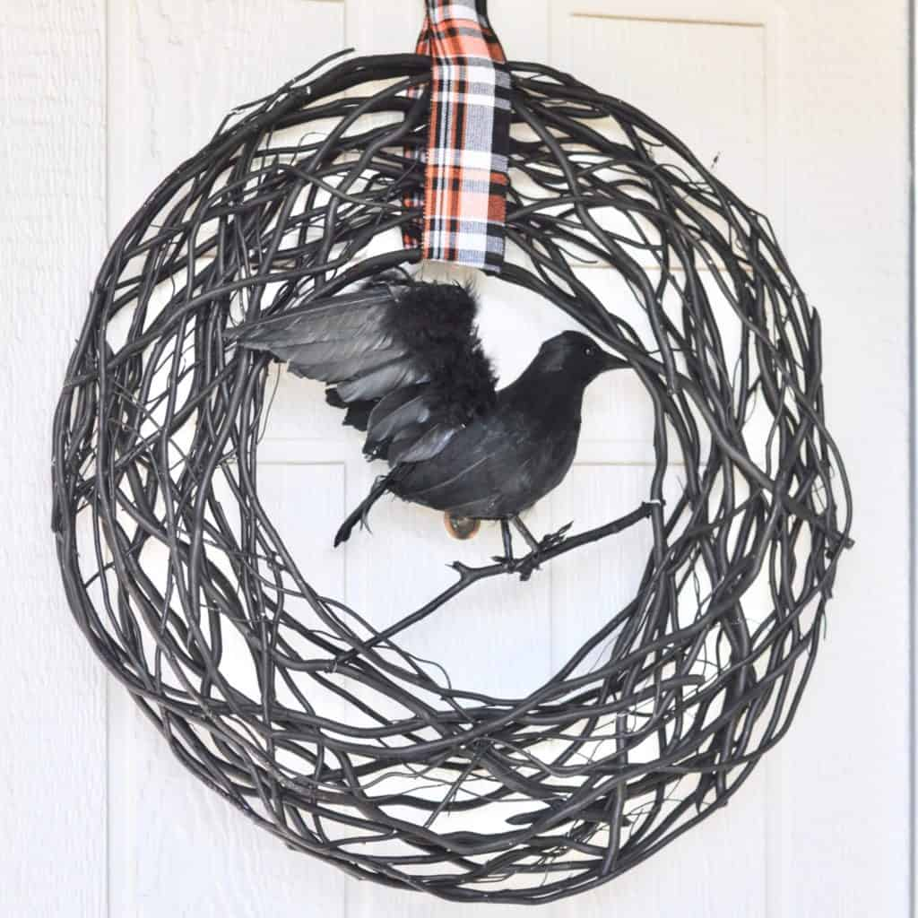 halloween crow wreath home goods