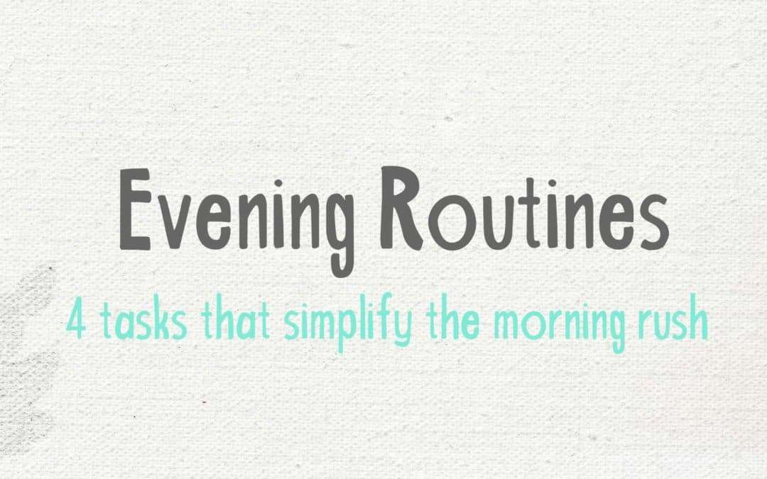 evening routine benefits