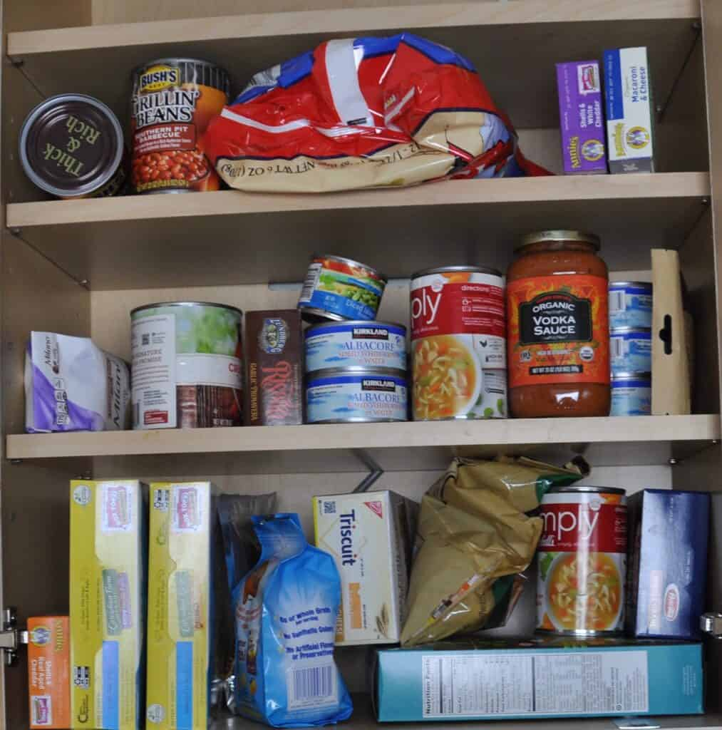 small cabinet pantry before home organization