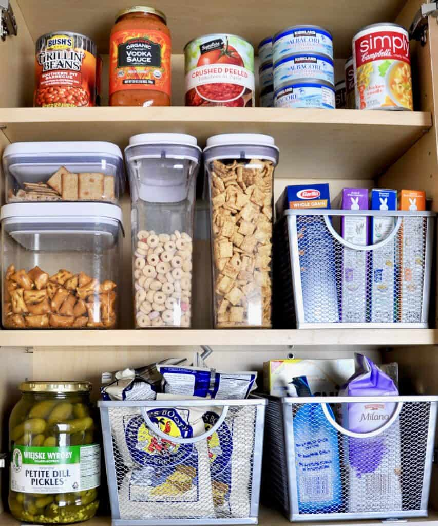 how to organize a small pantry cabinet