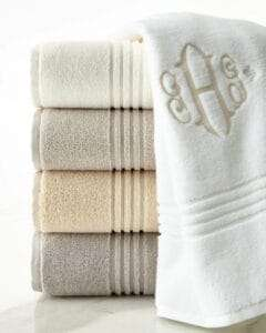 organized linen closet, perfect monogramed towels