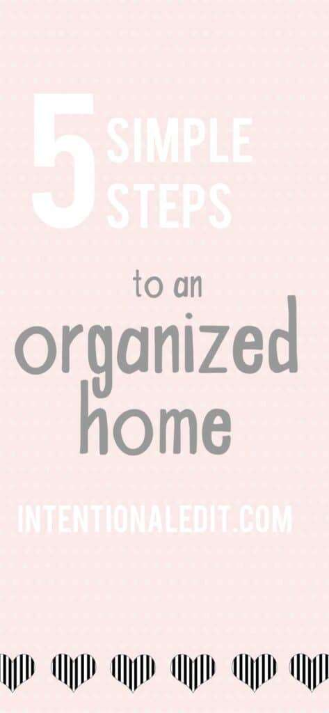 simples steps to declutter your home