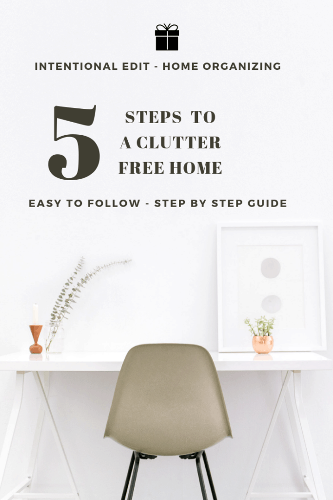 how to declutter in 5 simple steps
