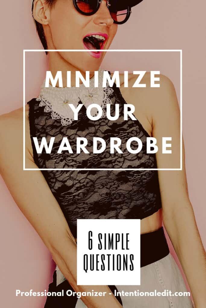 wardrobe closet organization minimize