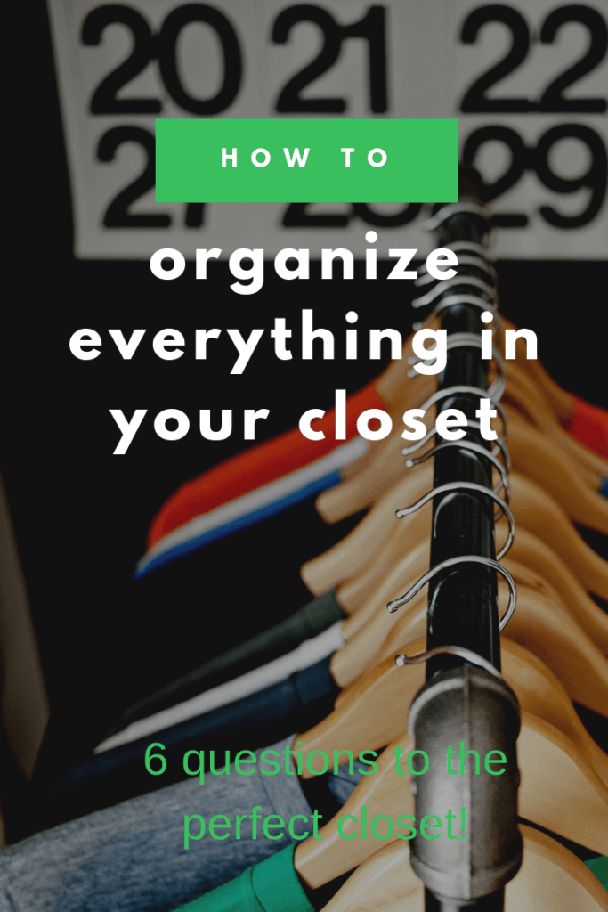 closet organizing how to