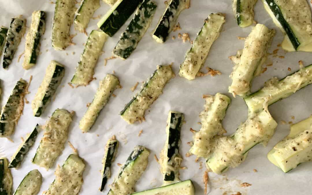 Baked Zucchini Fries with Aioli Sauce