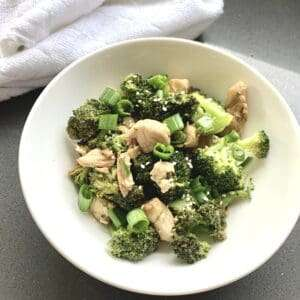 sesame chicken broccoli bowl recipe low carb