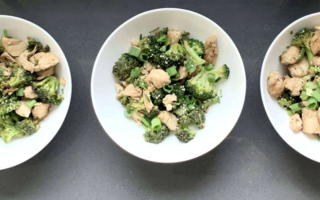 Sesame Chicken Broccoli Bowl