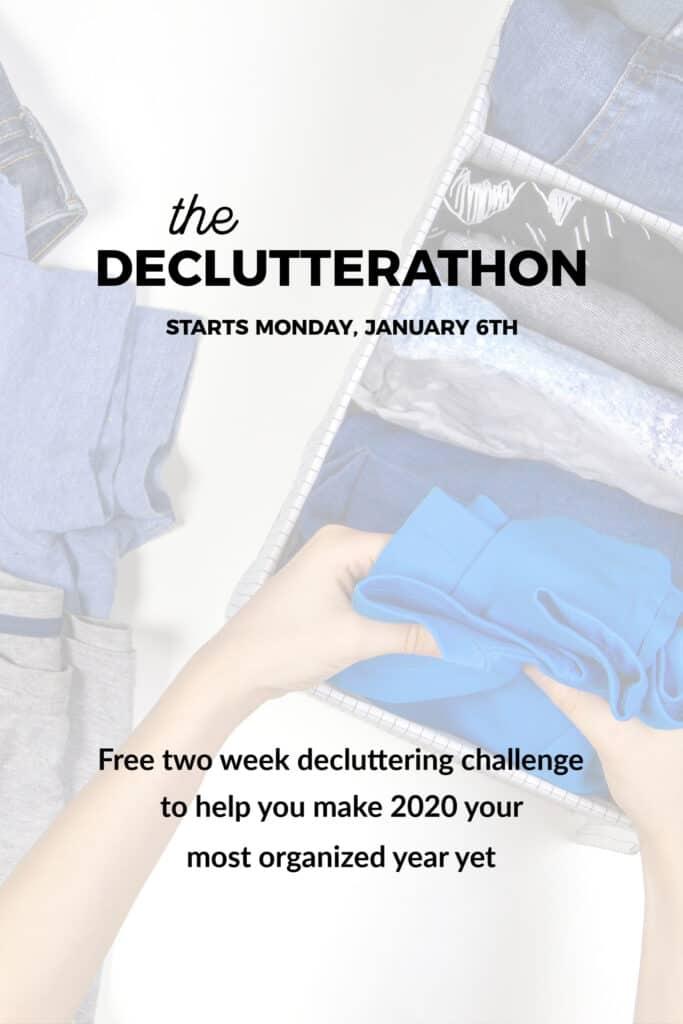 Declutterathon 2020 - get organized in 15 minutes per day