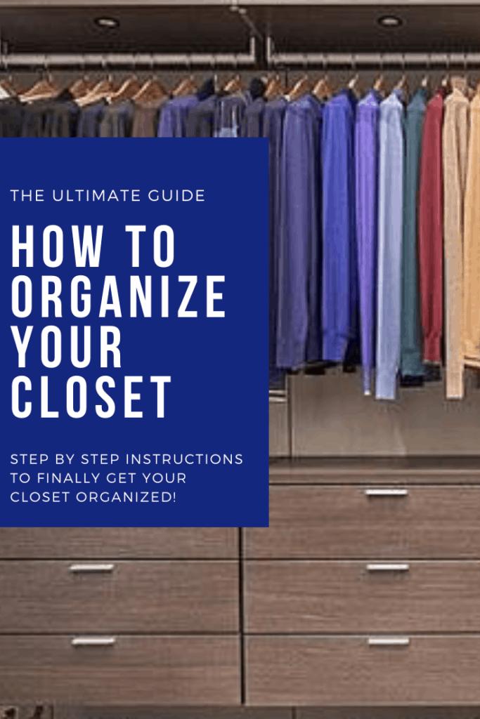 How to organize a closet - professional organizer tips