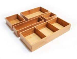 bamboo drawer dividers for office desk drawer