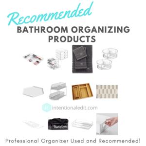 bathroom organizing products
