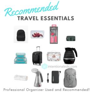 organized packing for easy travel